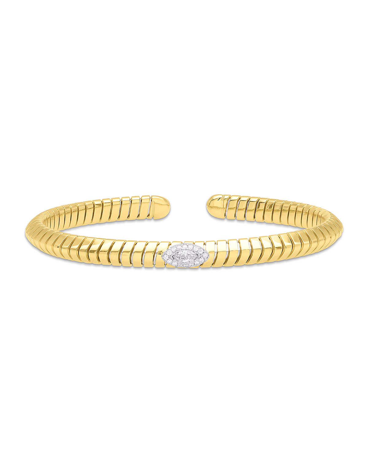 MARINA B Trisola 18K Diamond Navetta Bangle, Size S