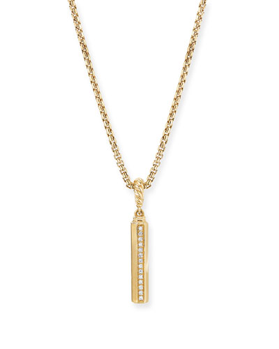 18k Gold Diamond Barrels Pendant
