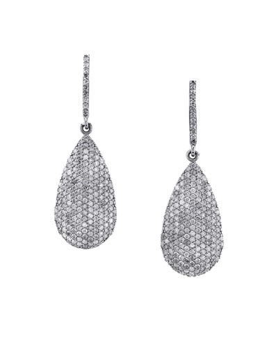 Diamond Pave Teardrop Earrings