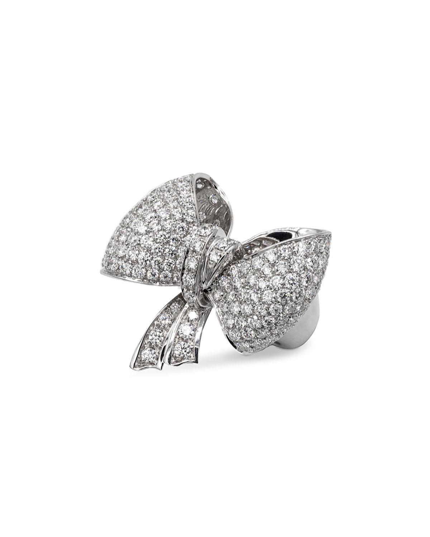 LEO PIZZO Iconic Bow 18K White Gold Diamond Ring