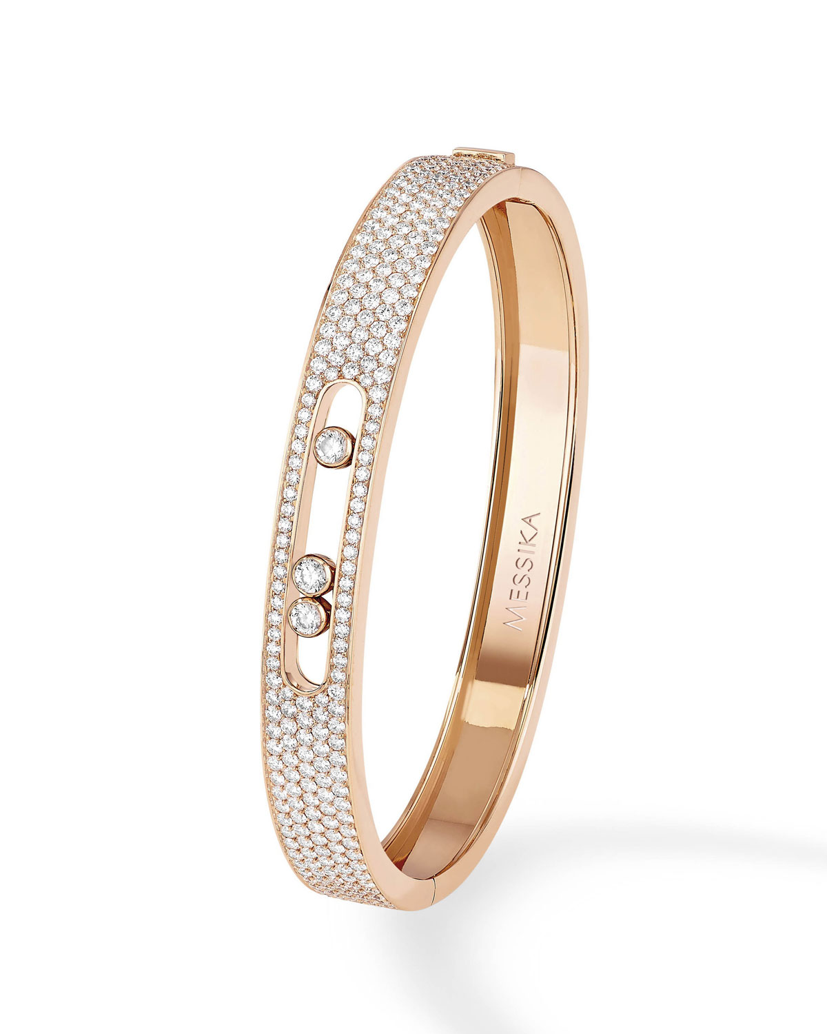 Messika MOVE DIAMOND BANGLE IN 18K ROSE GOLD