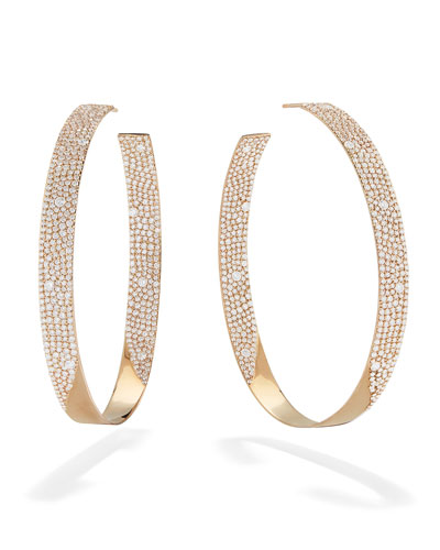 14k Vanity Inside-Outside Diamond Hoop Earrings