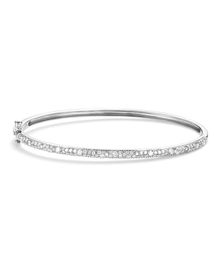 Lana 14k White Gold Cluster Diamond Bangle