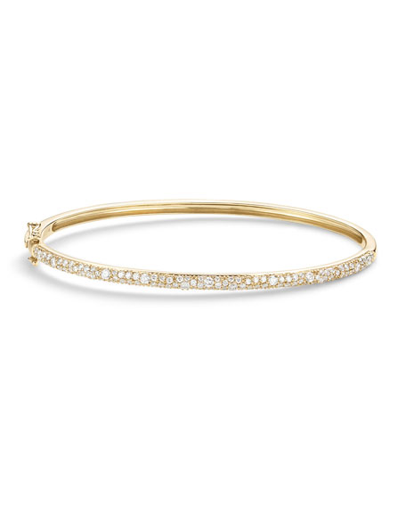 Lana 14k Gold Diamond Cluster Bangle