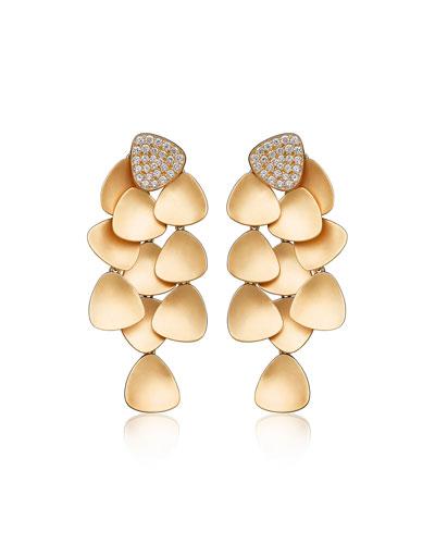 Bahia 18k Gold Diamond Dangle Earrings
