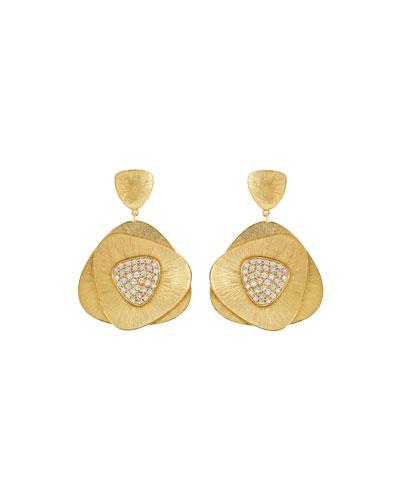 Bahia 18k Gold Diamond Drop Earrings