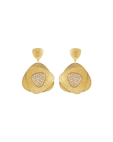 Hueb Bahia 18k Gold Diamond Drop Earrings