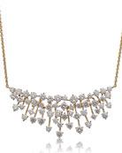 Hueb Luminus 18k Gold Diamond Bib Necklace