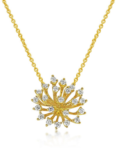 Luminus 18k Gold Diamond Pendant Necklace