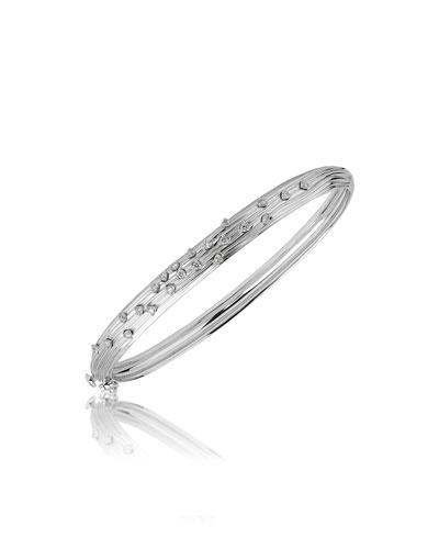 Plisse 18k White Gold Pleated Diamond Bracelet