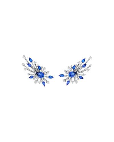 Luminus 18k White Gold Tanzanite & Diamond Earrings