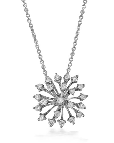 Luminus 18k White Gold Diamond Pendant Necklace