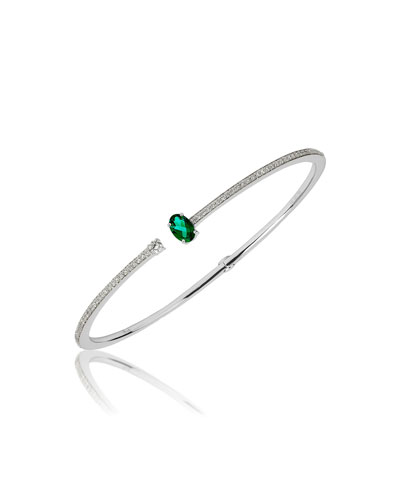 Spectrum 18k White Gold Emerald & Diamond Bracelet