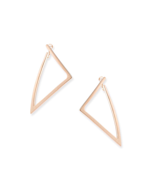 Millennia 18k Rose Gold Electroform Triangle Earrings