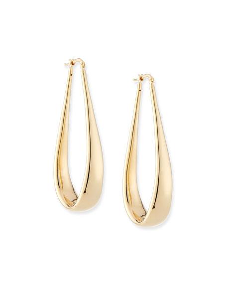 Alberto Milani Millennia 18k Gold Electroform Oblong Hoop Earrings