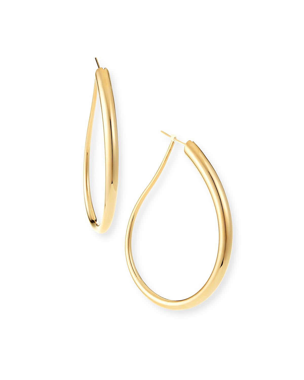 Millennia 18k Gold Electroform Fancy Oblong Earrings