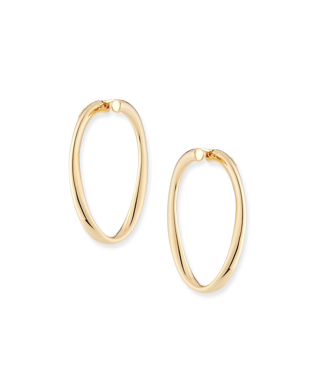 Millennia 18k Gold Electroform Hoop Earrings
