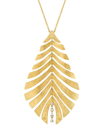 Bahia 18k Pendant Necklace w/ Diamonds