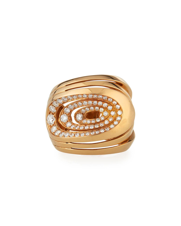 18k Rose Gold 6-Loop Diamond Ring