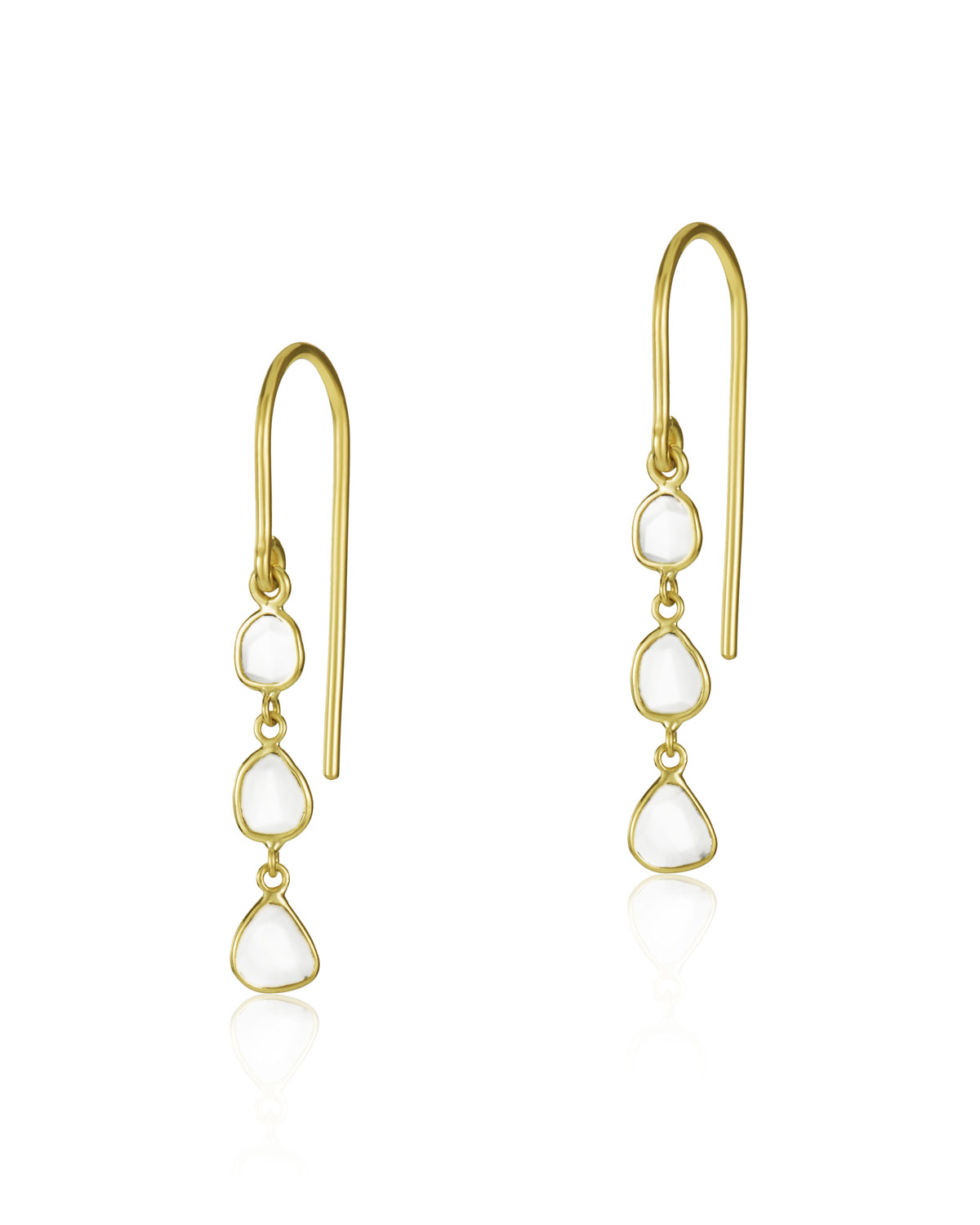 LEGEND AMRAPALI Polki Diamond Slice Mini Drop Earrings