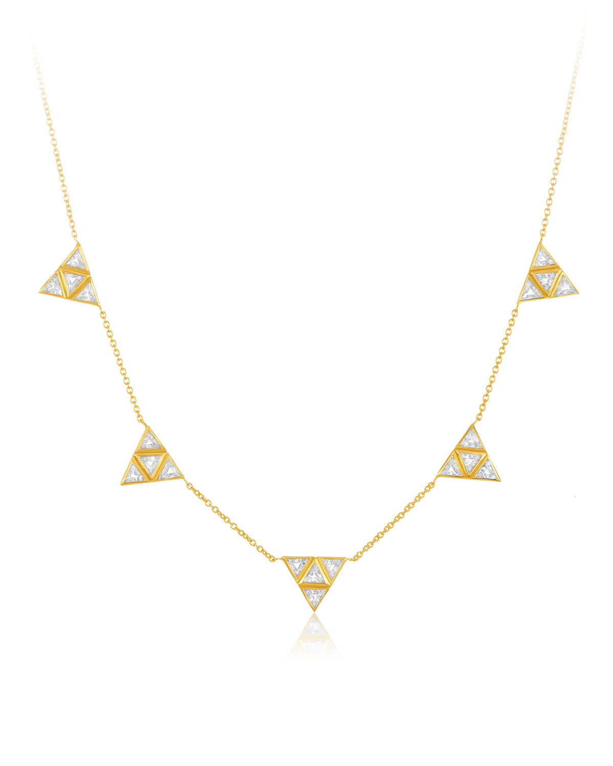 LEGEND AMRAPALI Rasayana Pyramid Sapphire Station Necklace