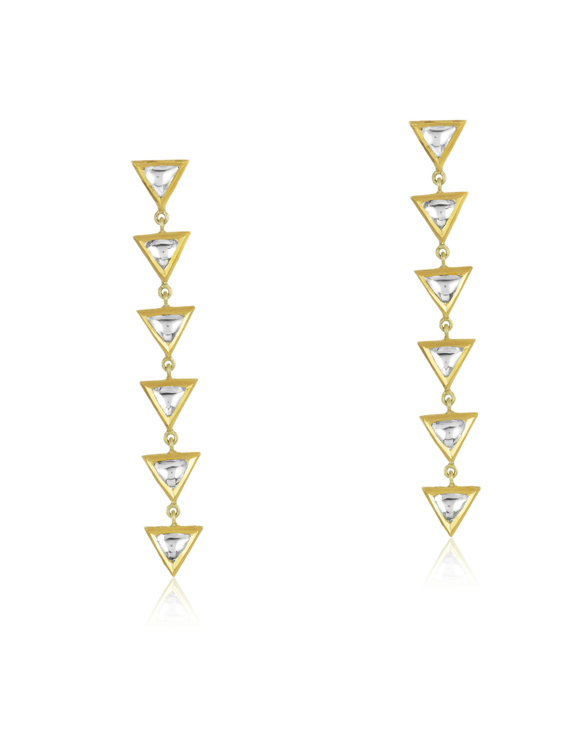 LEGEND AMRAPALI Kundan Vintage Triangle Diamond Drop Earrings