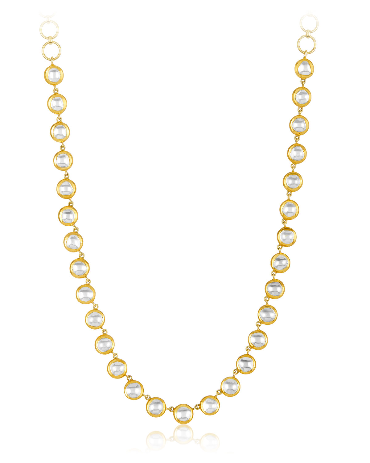 LEGEND AMRAPALI Kundan Vintage Diamond Bezel Necklace