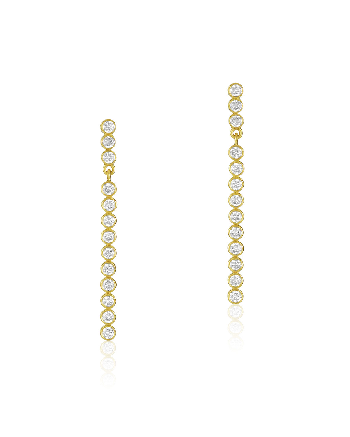 LEGEND AMRAPALI Tarakini Linear Diamond Earrings