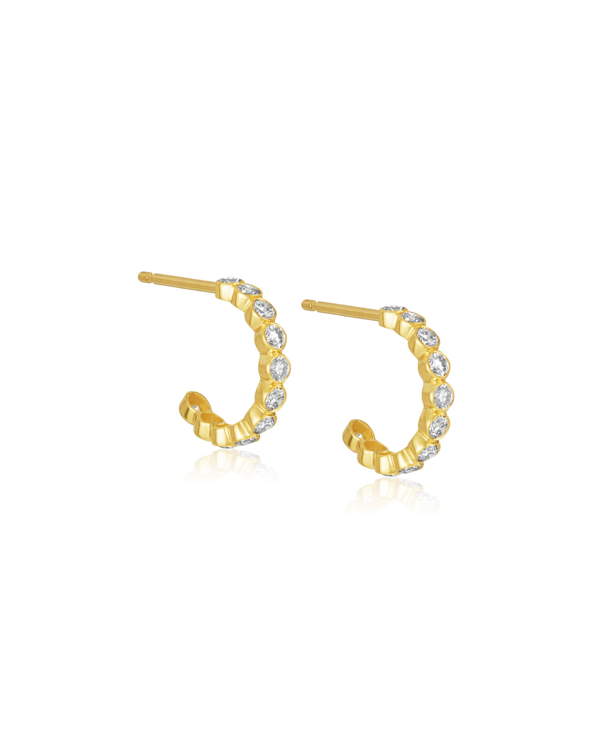 LEGEND AMRAPALI Tarakini Mini Diamond Hoop Earrings