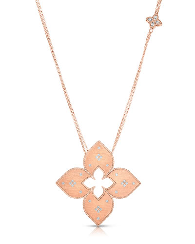Venetian Princess 18k Rose Gold Diamond Cutout Necklace