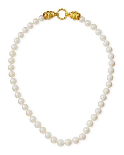 Pearl-Strand Martin-Clasp Necklace