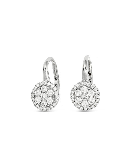 Frederic Sage Rirenze 18k White Gold Small Diamond Earrings