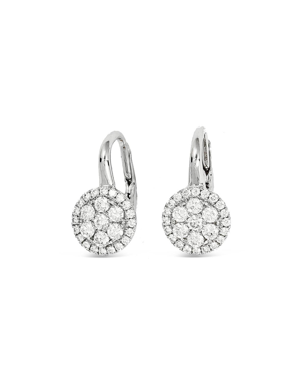 Firenze 18k White Gold Small Diamond Earrings