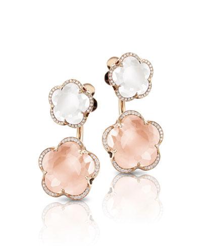 Bon Ton Goddesses 18k Rose Gold Quartz Earring Jackets
