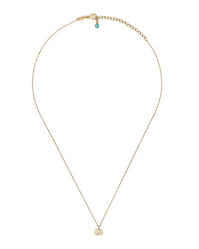 e53012b3db674 Quick Look. Gucci · 18k Gold GG Running Necklace ...