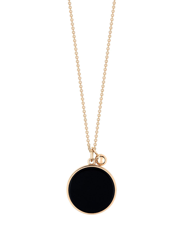 Ever 18k Rose Gold Onyx Pendant Necklace