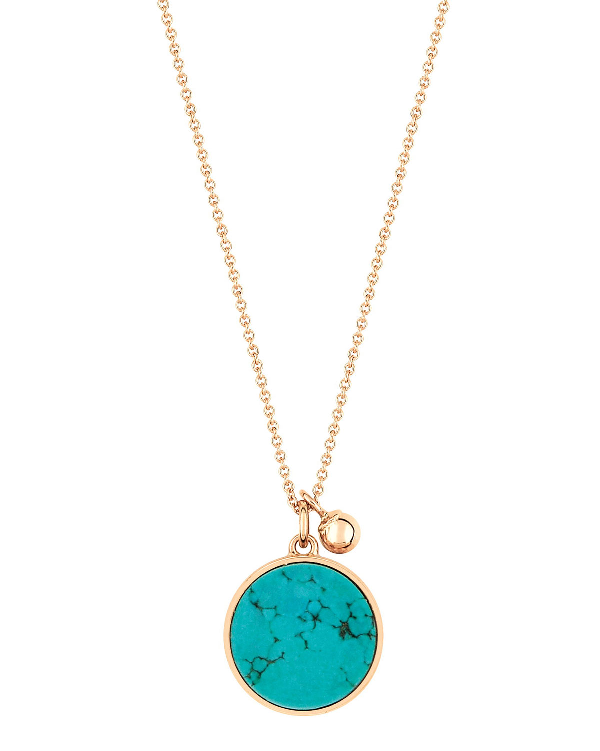 Ever 18k Rose Gold Turquoise Pendant Necklace