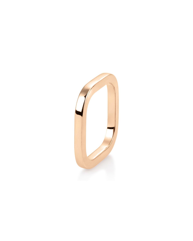 18k Rose Gold Square TV Ring