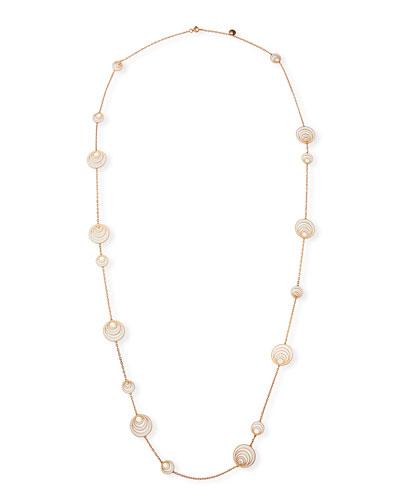 Aura 18k Rose Gold Enamel & Diamond Station Necklace
