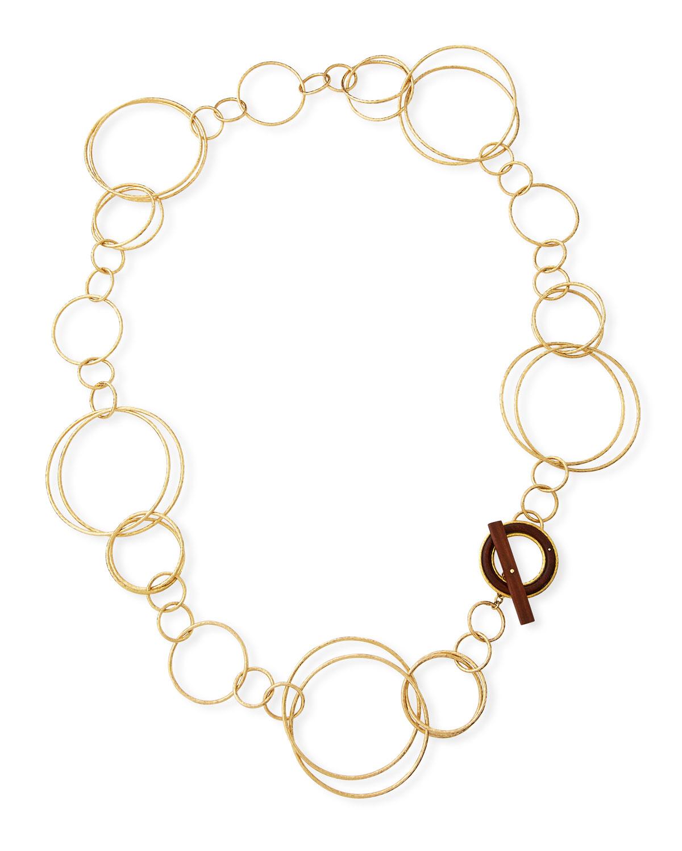 VENDORAFA 18K Acacia Wood Necklace in Gold