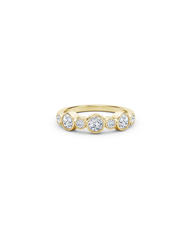 Tribute 18k Gold 7-Diamond Bezel Ring