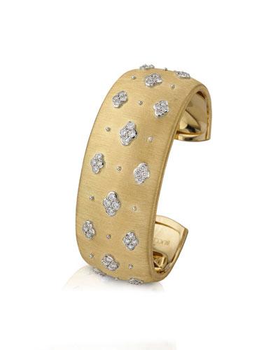 Macri AB 18k Yellow Gold Diamond Cuff