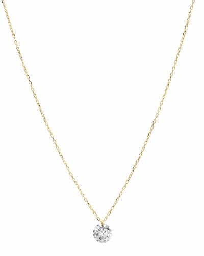 18k Floating Diamond Pendant Necklace, 0.3tcw