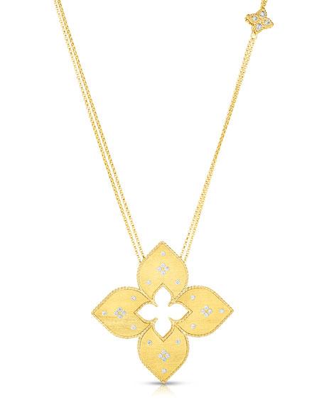 Roberto Coin Venetian Princess 18k Diamond Cutout Necklace