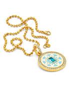 Buddha Mama 20k Gold Topaz & Diamond Mandala