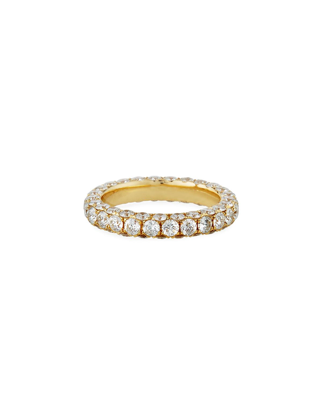 18k Gold Diamond 3-Sided Ring