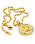 Buddha Mama 20k Gold Buddha Coin Pendant w/