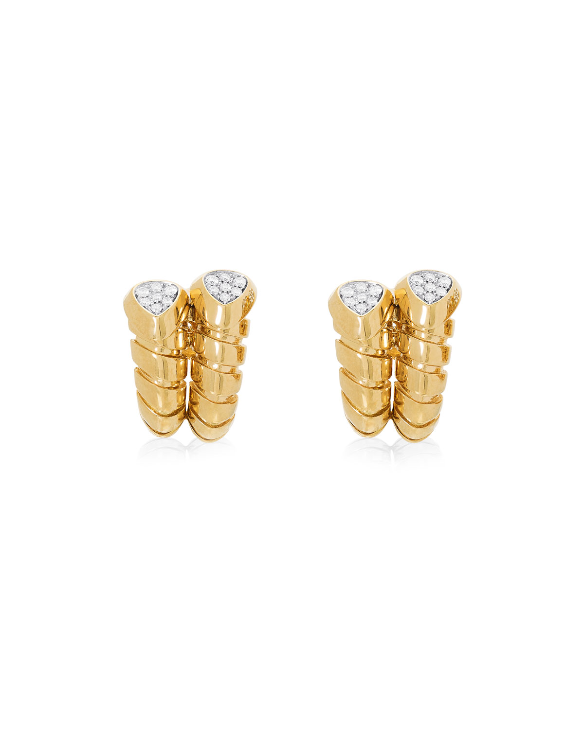 MARINA B Trisola 18K Gold Diamond Huggie Earrings