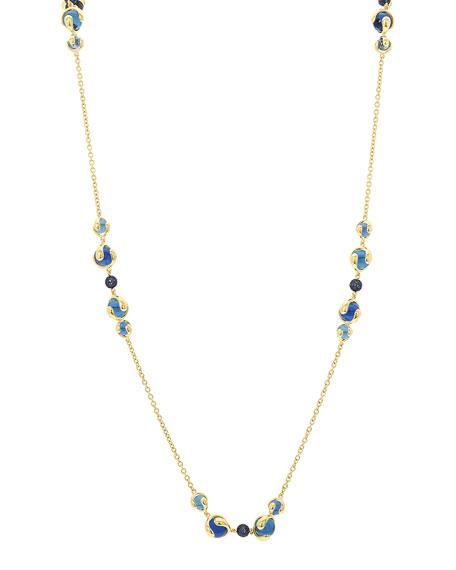 Marina B 18k Gold Mixed-Stone Station Necklace