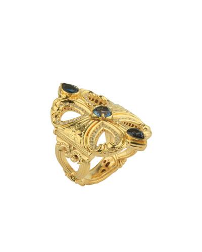 18k London Blue Topaz & Diamond Ring
